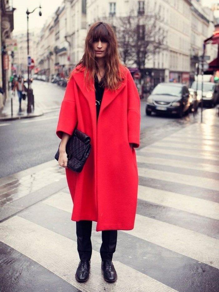 пальто оверсайз и шарф