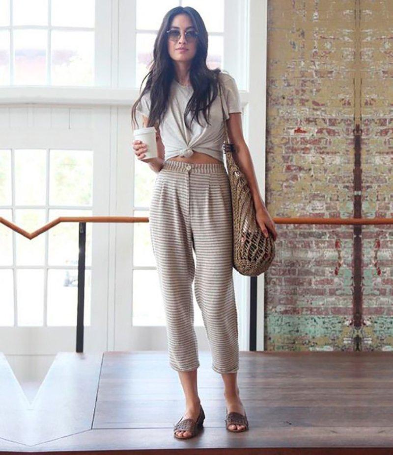 брюки в пастельных тонах