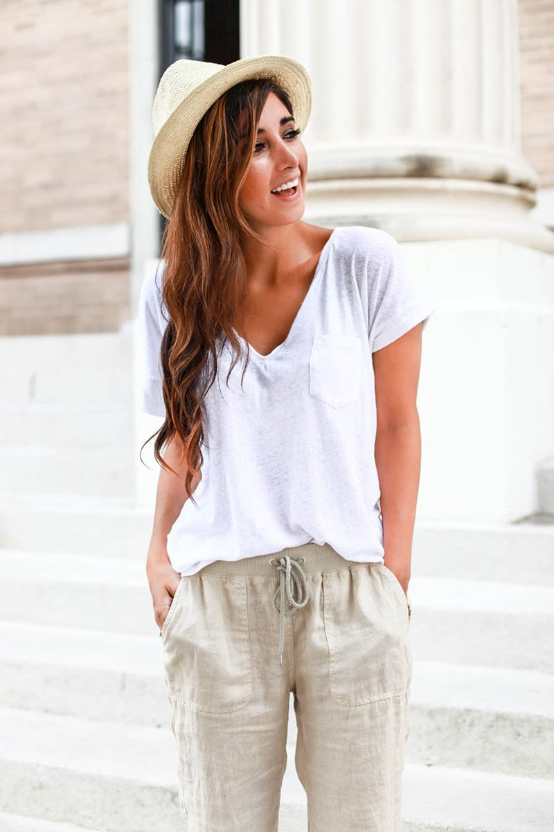 модель летних брюк в стиле багги