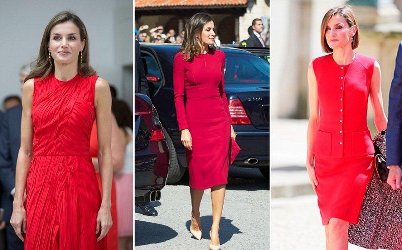 красный цвет в гардеробе женщины