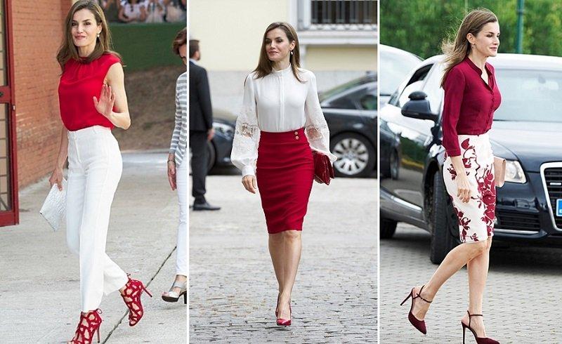 красный цвет в женском гардеробе