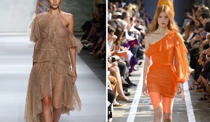модные платья из твида