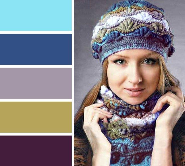 шапка и шарф комплект