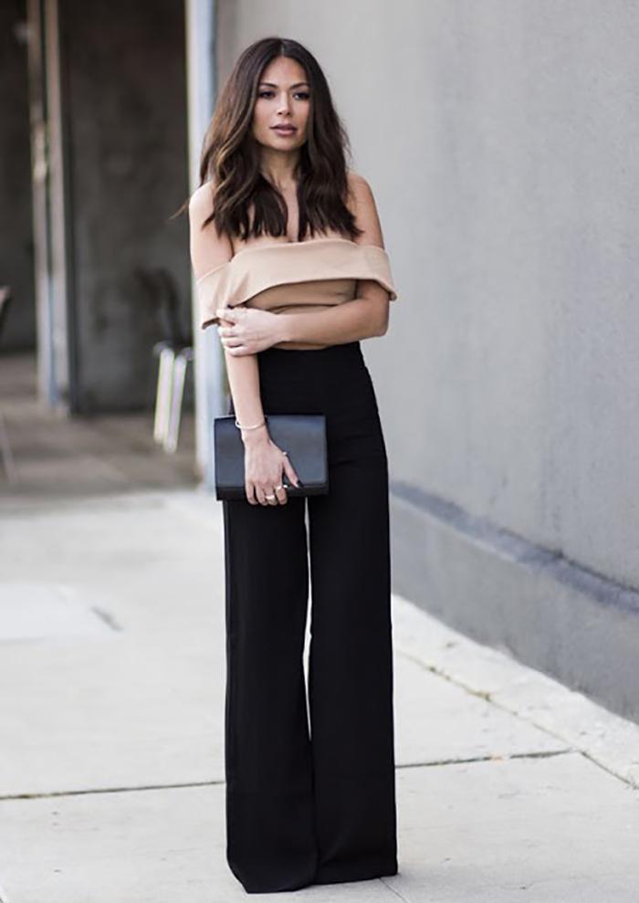 брюки с широким кроем