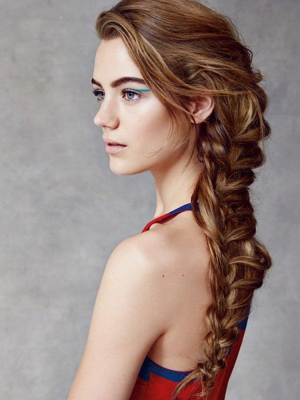 растрепанная коса