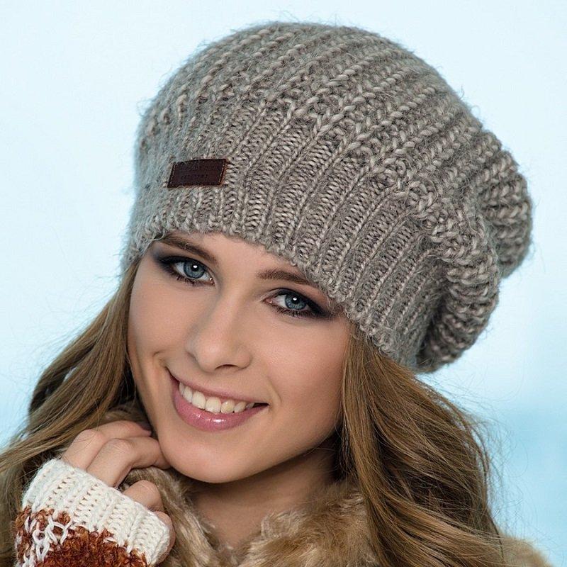 Женская шапка английской резинкой спицами схема фото 696