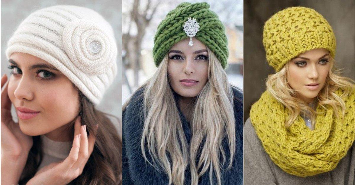 Модные вязаные шапки этого сезона своими руками схемы