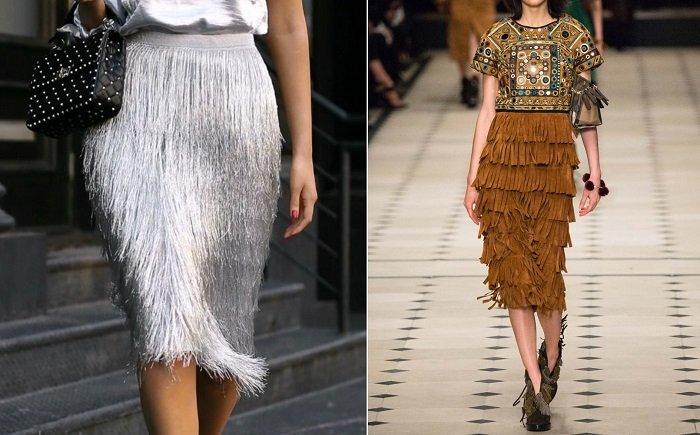 модные юбки из твида