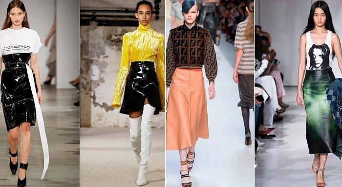 модные юбки из атласа