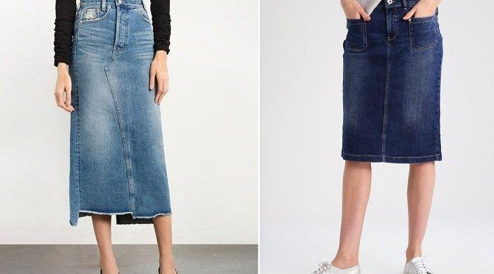 модные атласные юбки