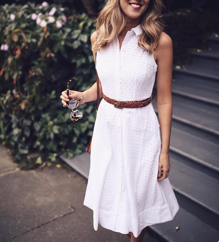 женские платья из льна