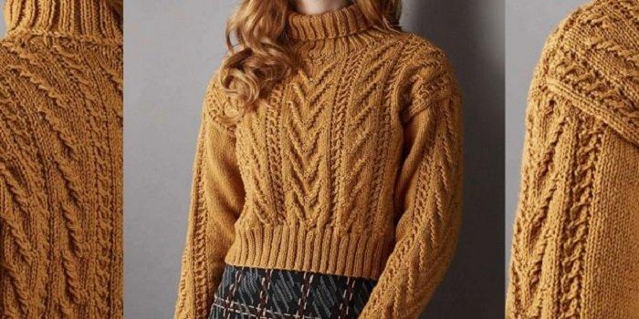 женские свитера и пуловеры спицами