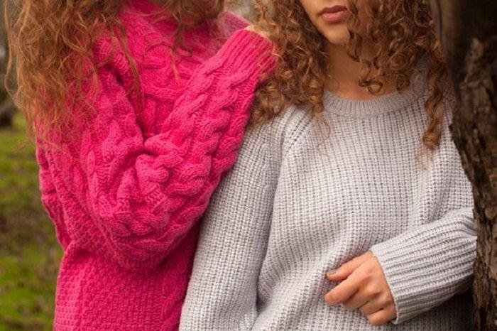 женские свитера из толстой пряжи