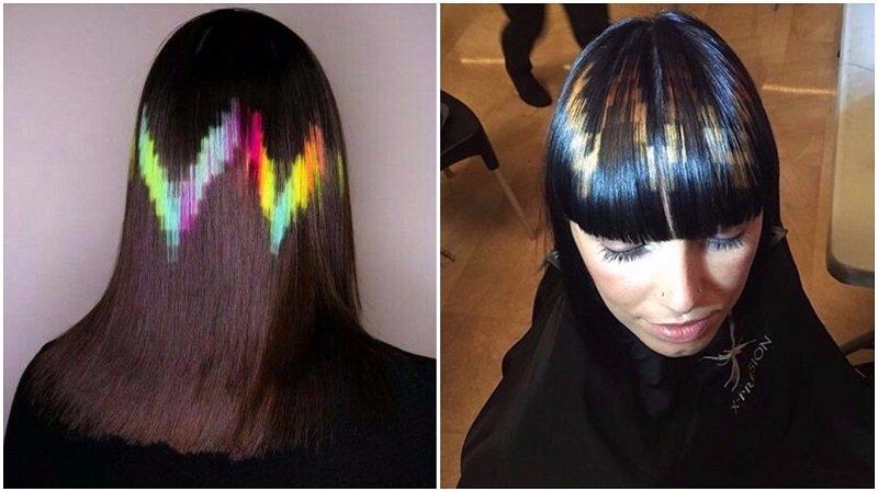 Окрашивание волос в три цвета