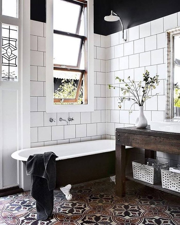 Дизайн кафельной плитки в ванной: Модный дизайн ванной комнаты