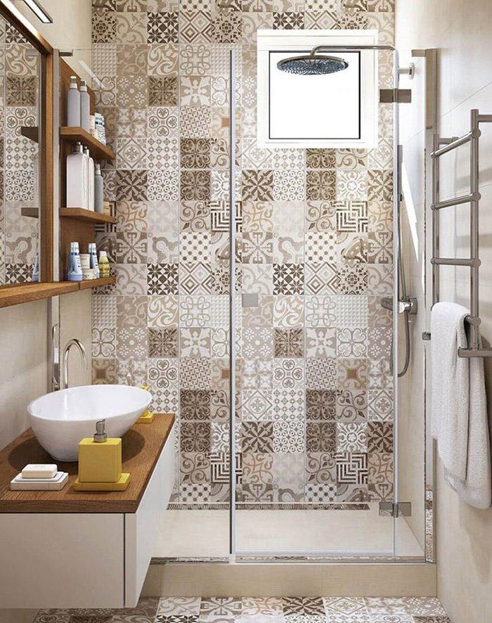 дизайн ванной комнаты из дерева