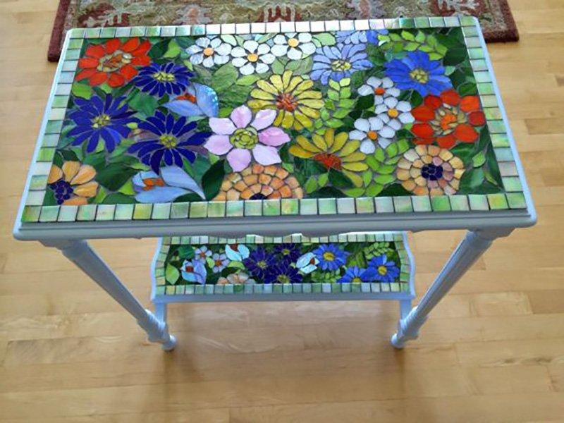 149Как сделать мозаичный столик мастер класс