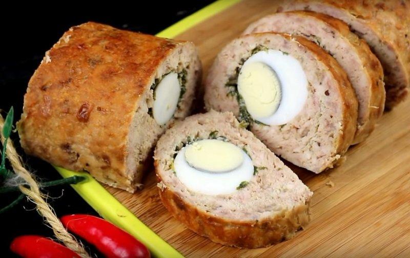 мясной рулет с яйцом рецепт