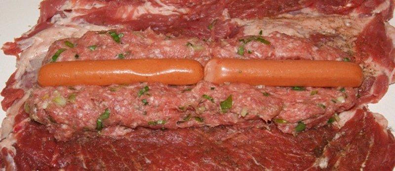 мясной рулет без теста