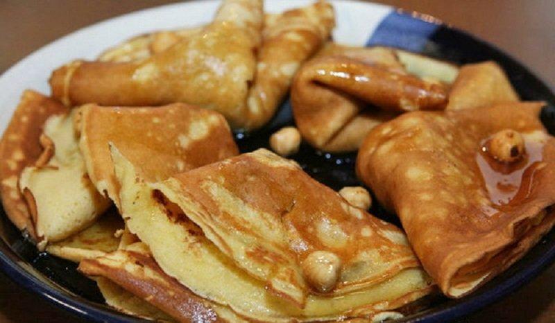 блинчики с ореховой начинкой
