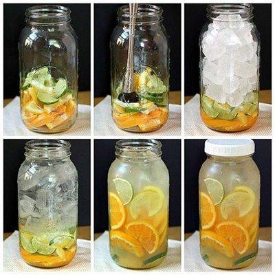 вода с цитрусовыми<