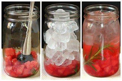 вода с розмарином и арбузом