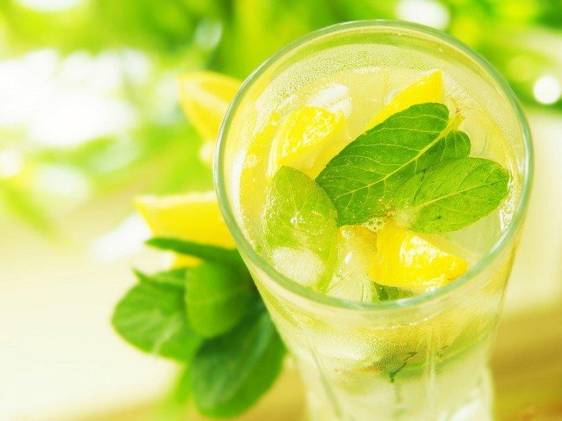 напиток для похудения с лимоном и мятой