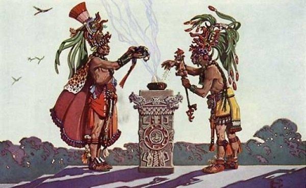 индейцы готовят какао