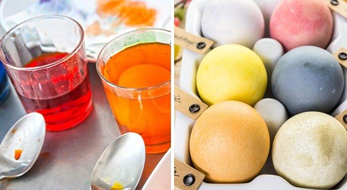 как покрасить яйца из натуральных продуктов
