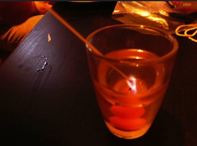 макаронина в свечке