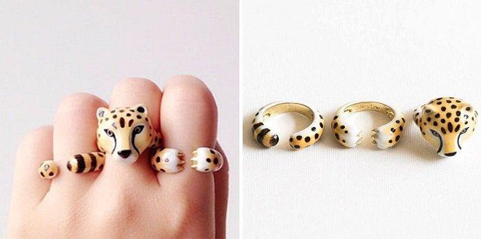 оригинальные кольца без камней