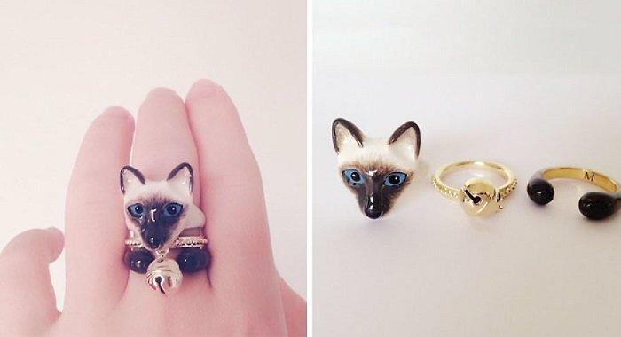 кольца в виде животных