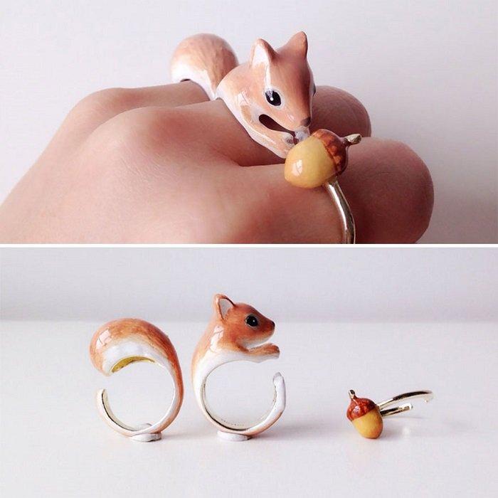 необычные кольца фото
