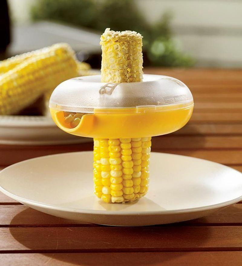приспособление для срезания кукурузных зерен