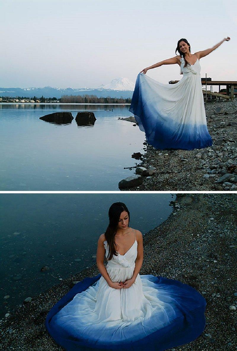 платья с эффектом омбре