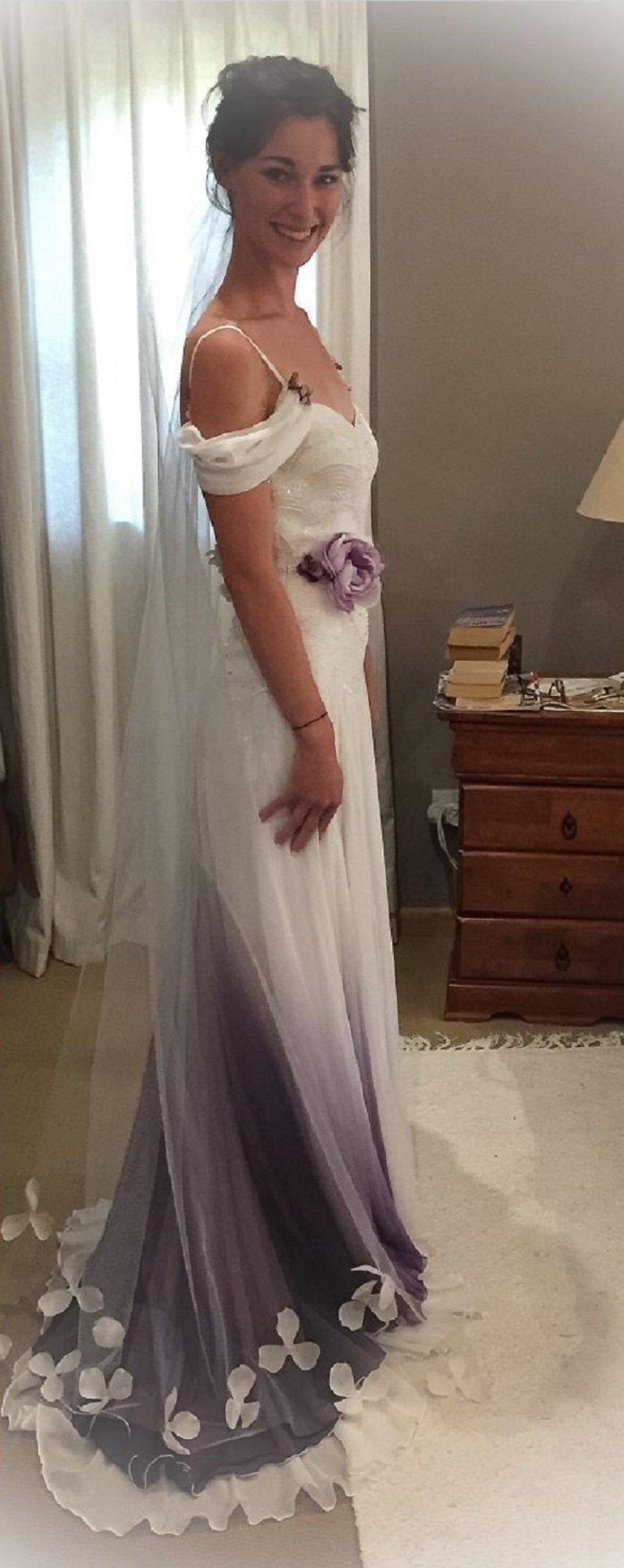 платье цвета омбре