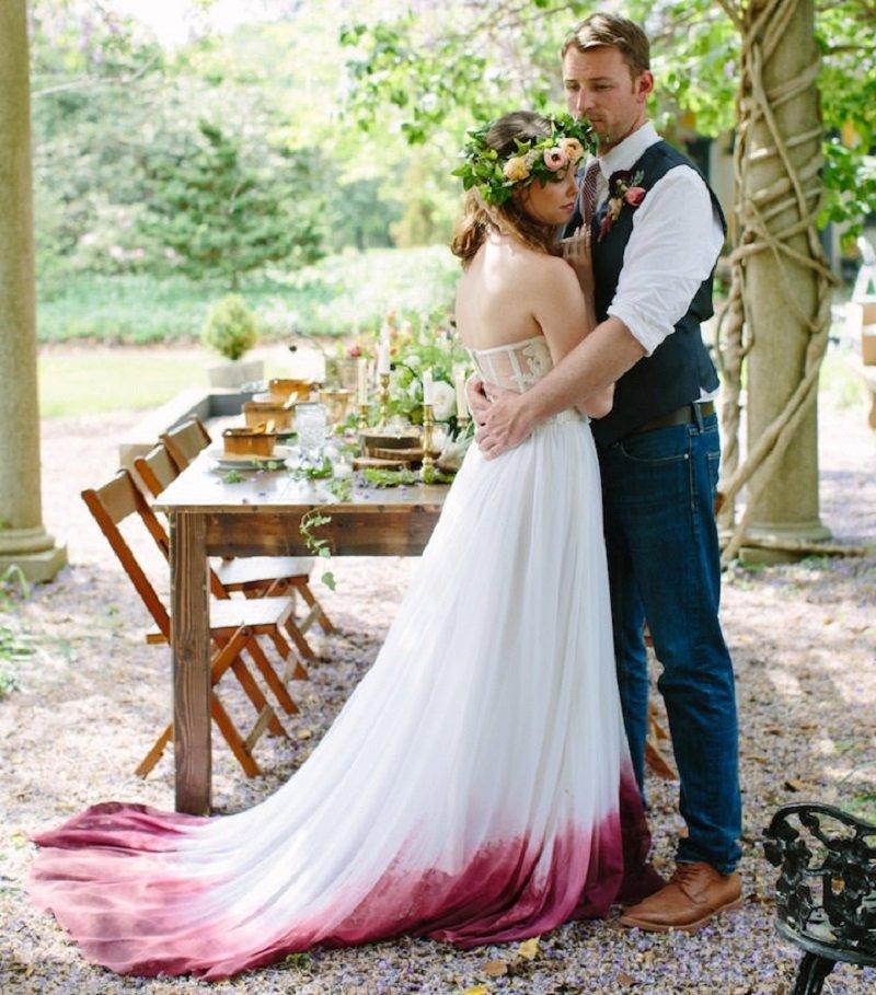 свадебное платье с градиентом