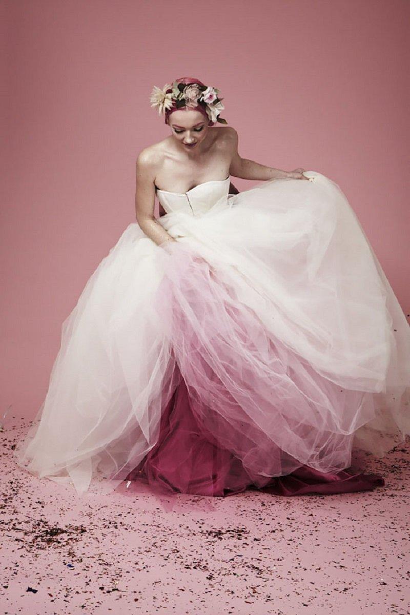 свадебные платья омбре