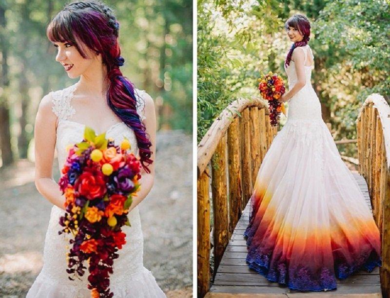 платья с градиентом
