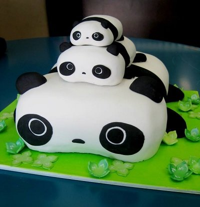торт в виде панды