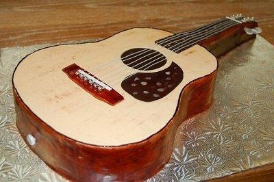 торт в виде гитары