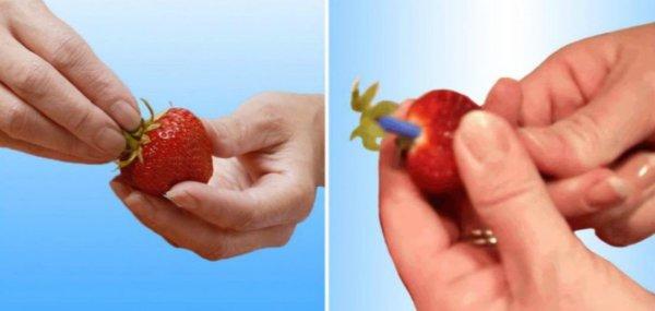 как чистить клубнику
