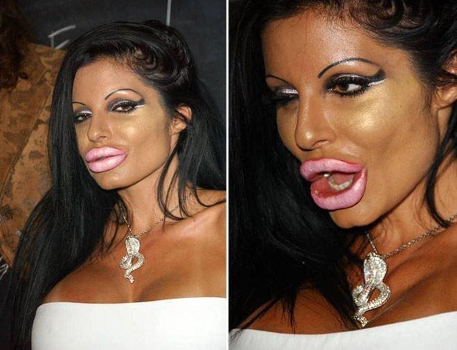 неудачный макияж