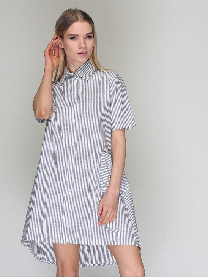 с чем носить платье рубашку