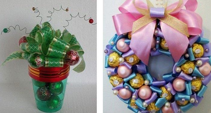 подарки из конфет для детей своими руками