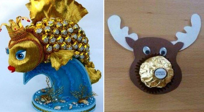 подарки из конфет своими руками