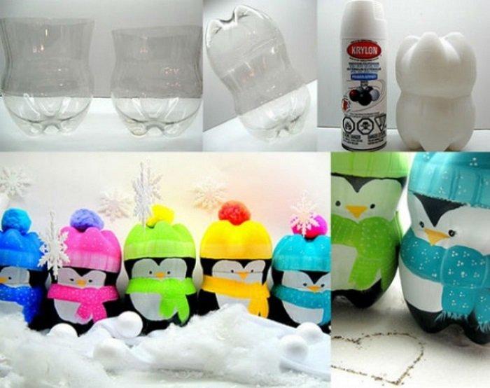 клумбы и поделки из пластиковых бутылок