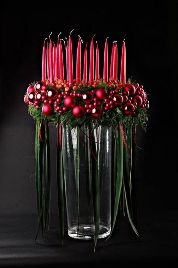 декор свечей на свадьбу