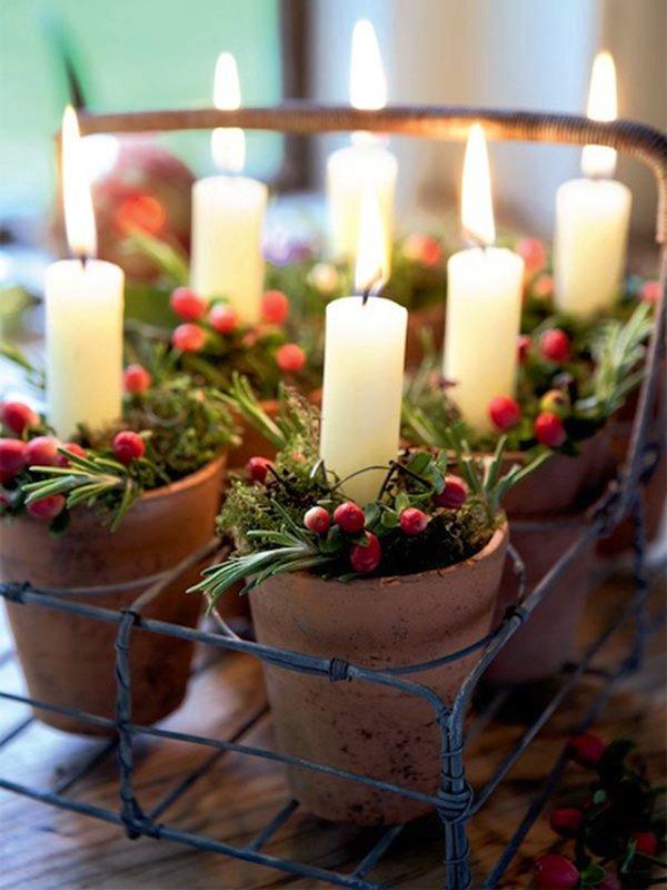 декор свечей из вощины