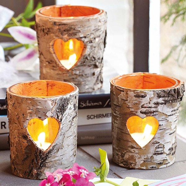 декор с помощью свечей